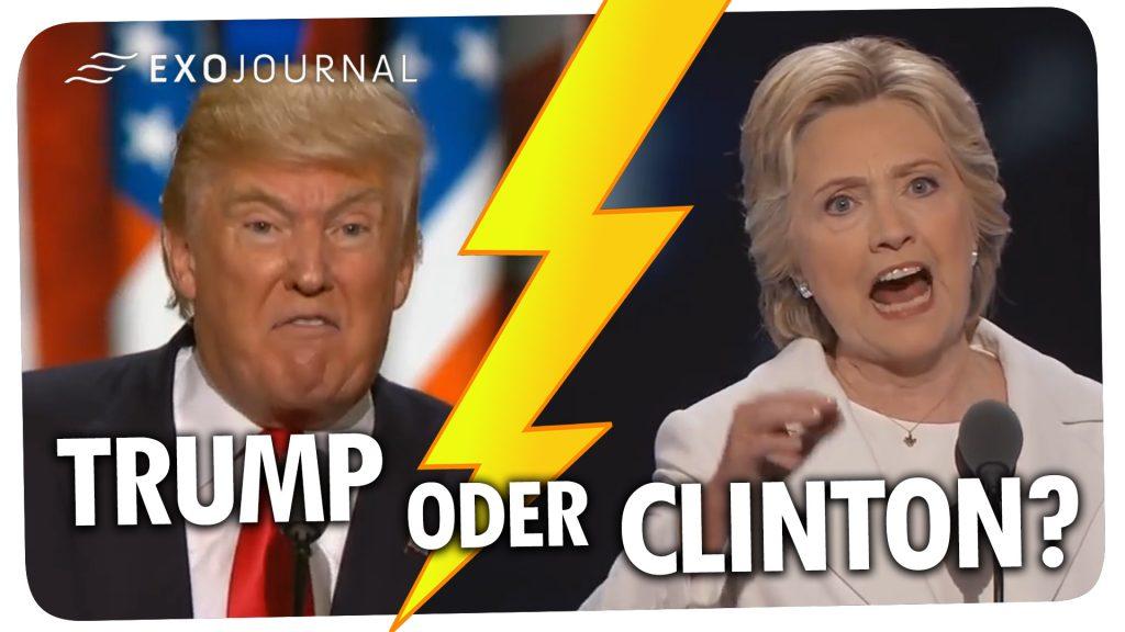 Trump oder Clinton - Wer wird US-Präsident - ExoJournal