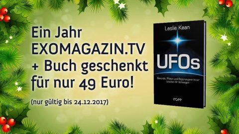 Weihnachtsaktion: Ein Jahr ExoMagazin.tv + Buch geschenkt für nur 49 Euro!